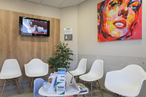 Salle d'attente du cabinet dentaire